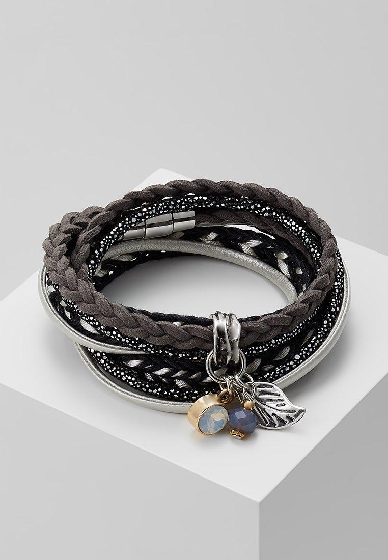 sweet deluxe - ADEOLA - Armbånd - silver-coloured/black