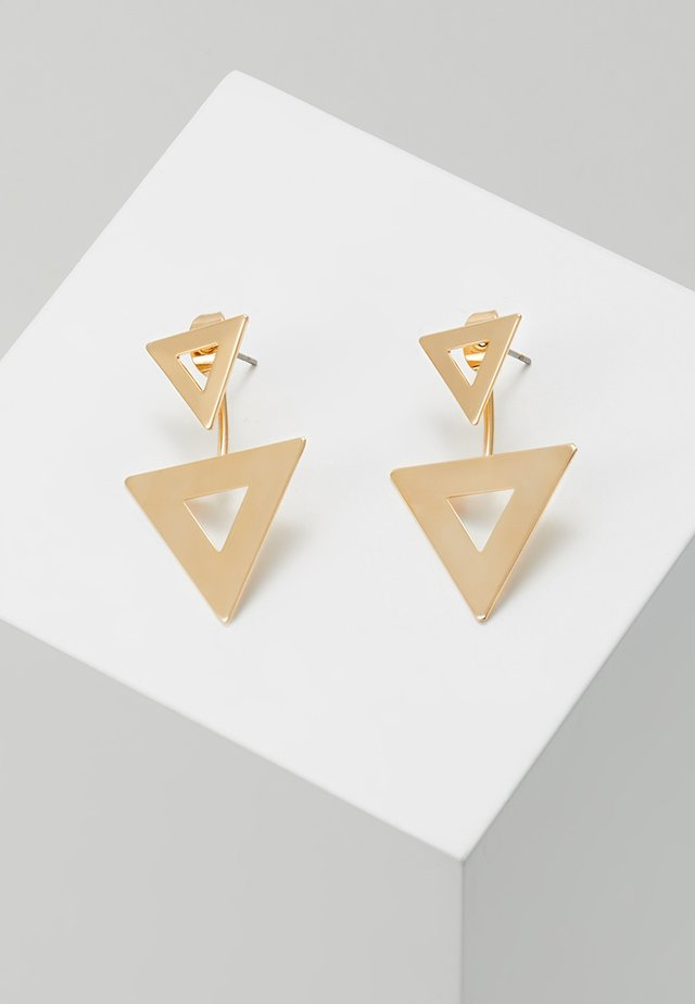 DOUBLE TRIANGLE - Earrings - gold-coloured