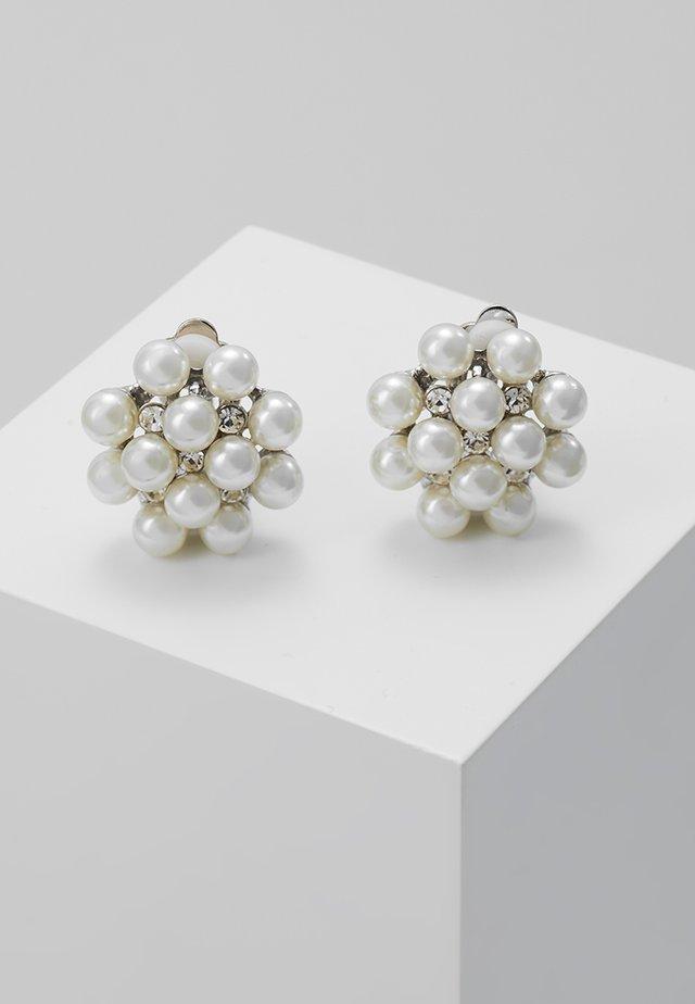 Earrings - silber/crystal/pearl