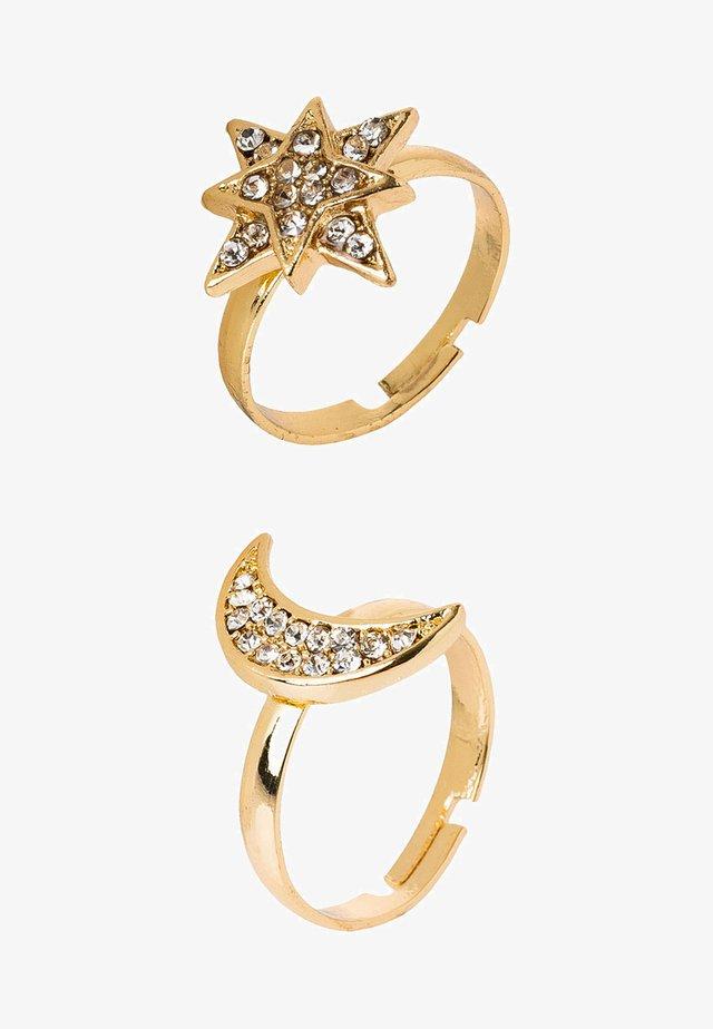 SET - Ring - gold-coloured/crystal