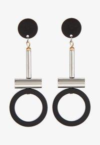 sweet deluxe - GUANNA - Earrings - silber/schwarz - 3
