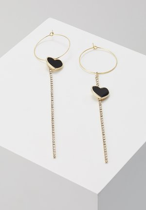 NADINE - Boucles d'oreilles - gold-coloured/crystal/schwarz