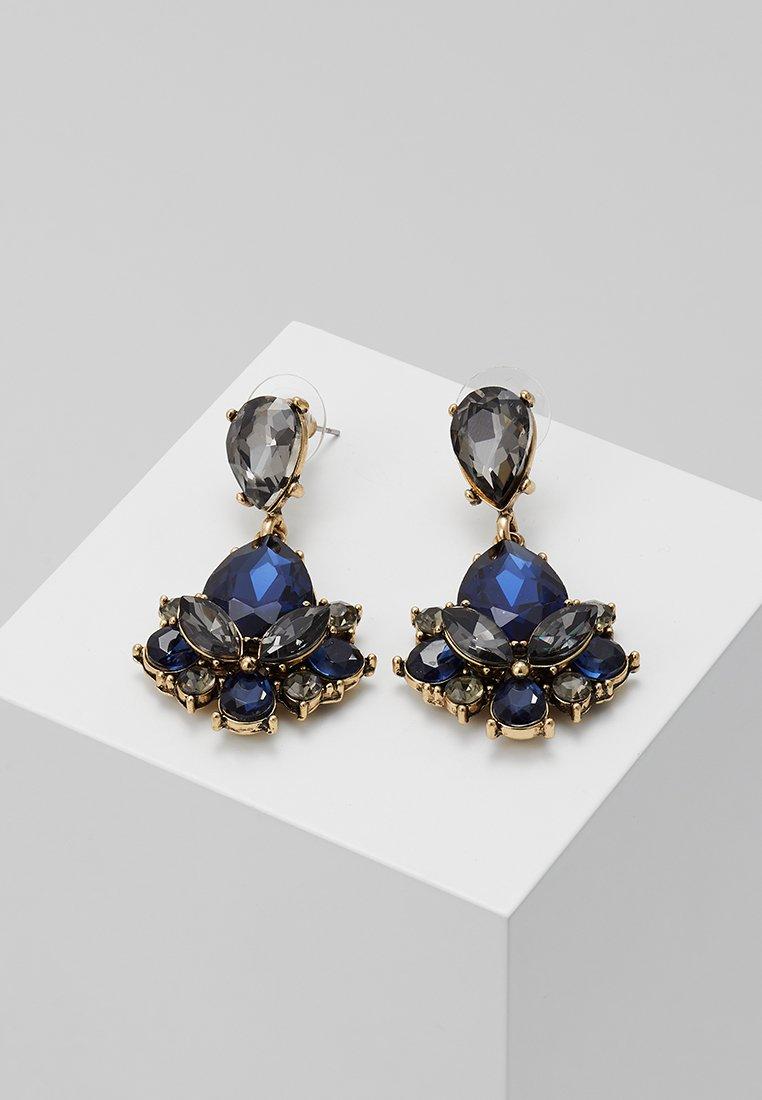 sweet deluxe - TERZIA - Orecchini - antikgold-coloured/dunkelblau