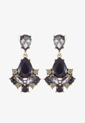 TERZIA - Boucles d'oreilles - antikgold-coloured/black
