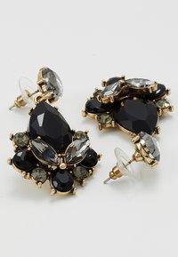 sweet deluxe - TERZIA - Earrings - antikgold-coloured/black - 2