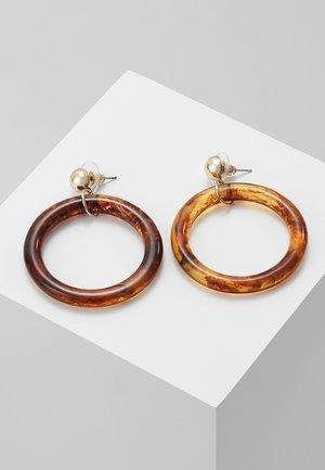 Earrings - brown