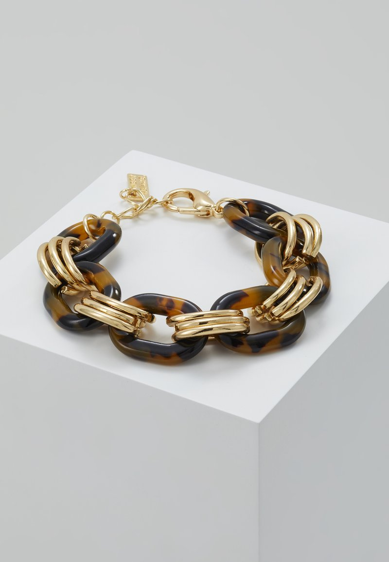 sweet deluxe - FERMENA - Pulsera - gold-coloured/brown