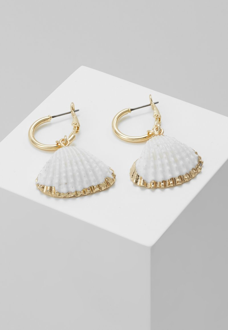 sweet deluxe - Pendientes - gold-coloured/weiß