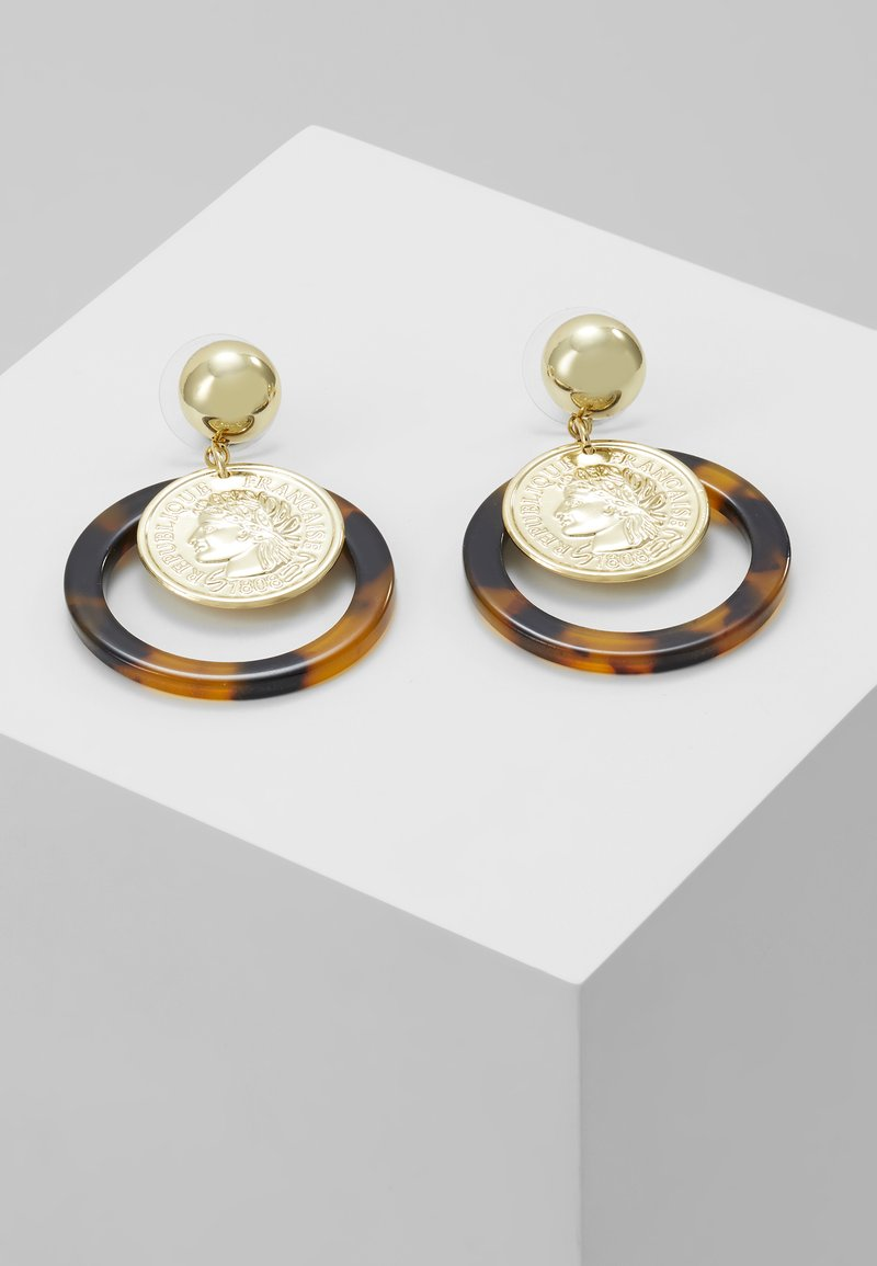 sweet deluxe - EUFEMIA - Pendientes - gold-coloured/brown