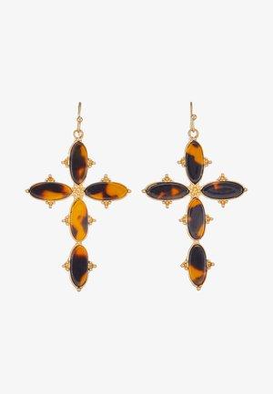 OHRSCHMUCK KREUZ - Earrings - gold-coloured