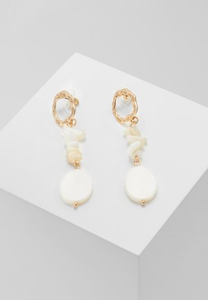 FEHMKE - Earrings - gold-coloured/weiß