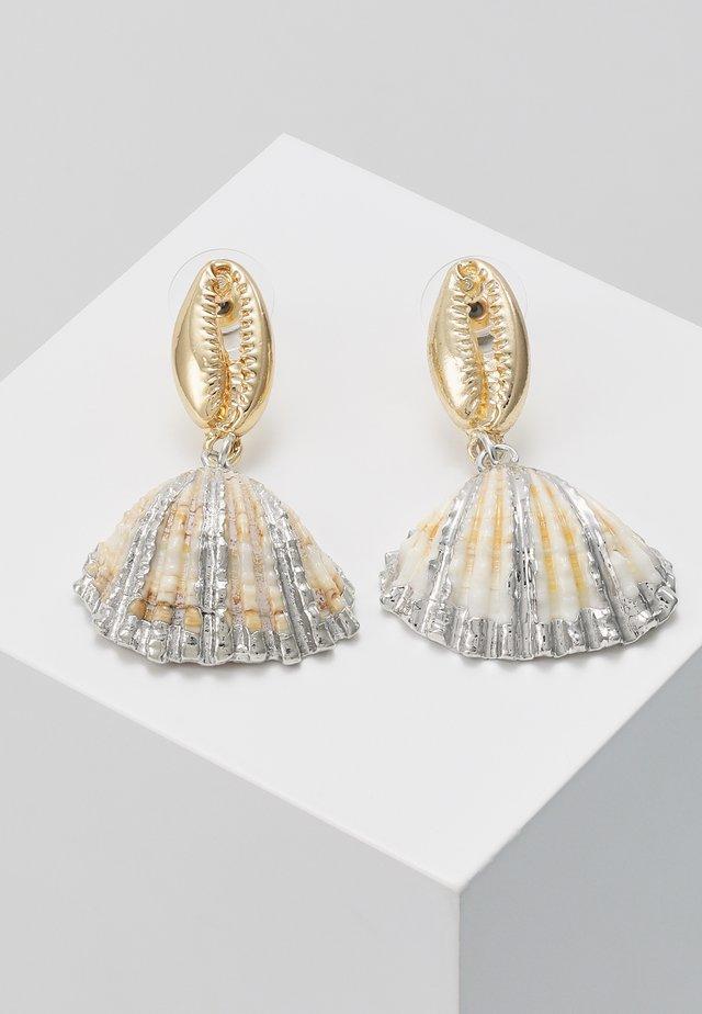 FOLINE - Earrings - gold-coloured/natur