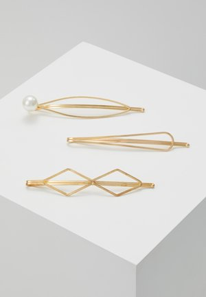 HAIR ACCESSORY 3 PACK - Hair styling accessory - gold-coloured/white