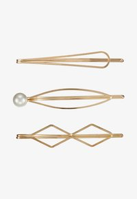 sweet deluxe - HAIR ACCESSORY 3 PACK - Akcesoria do stylizacji włosów - gold-coloured/white - 3