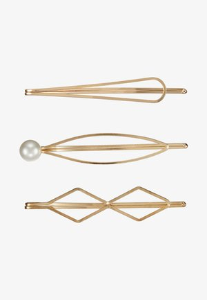 HAIR ACCESSORY 3 PACK - Accessoires cheveux - gold-coloured/white