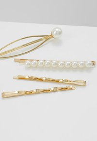 sweet deluxe - HAIR ACCESSORY 4 PACK - Håraccessoar - gold-coloured/weiß - 4
