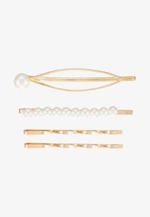HAIR ACCESSORY 4 PACK - Accessoires cheveux - gold-coloured/weiß