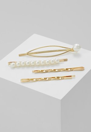 HAIR ACCESSORY 4 PACK - Hair styling accessory - gold-coloured/weiß