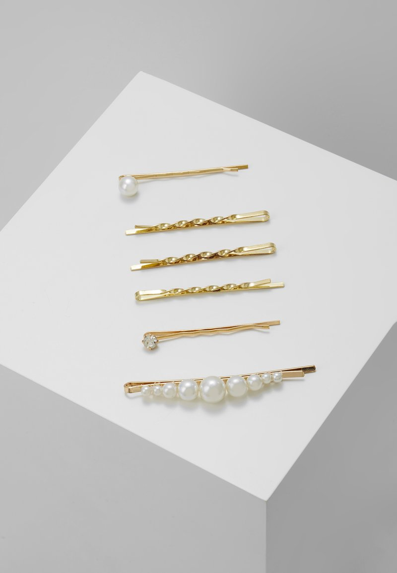 sweet deluxe - HAIR ACCESSORY 6 PACK - Hair styling accessory - gold-coloured/weiß
