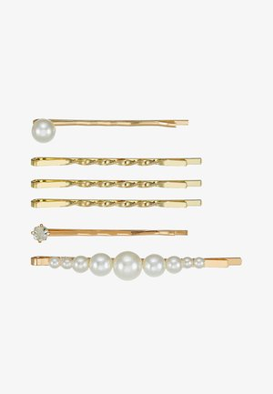 HAIR ACCESSORY 6 PACK - Haaraccessoire - gold-coloured/weiß