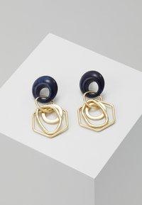 sweet deluxe - Earrings - gold-coloured/blue - 0