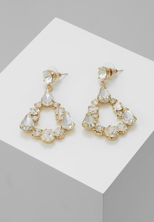 Earrings - gold-coloured/crystal