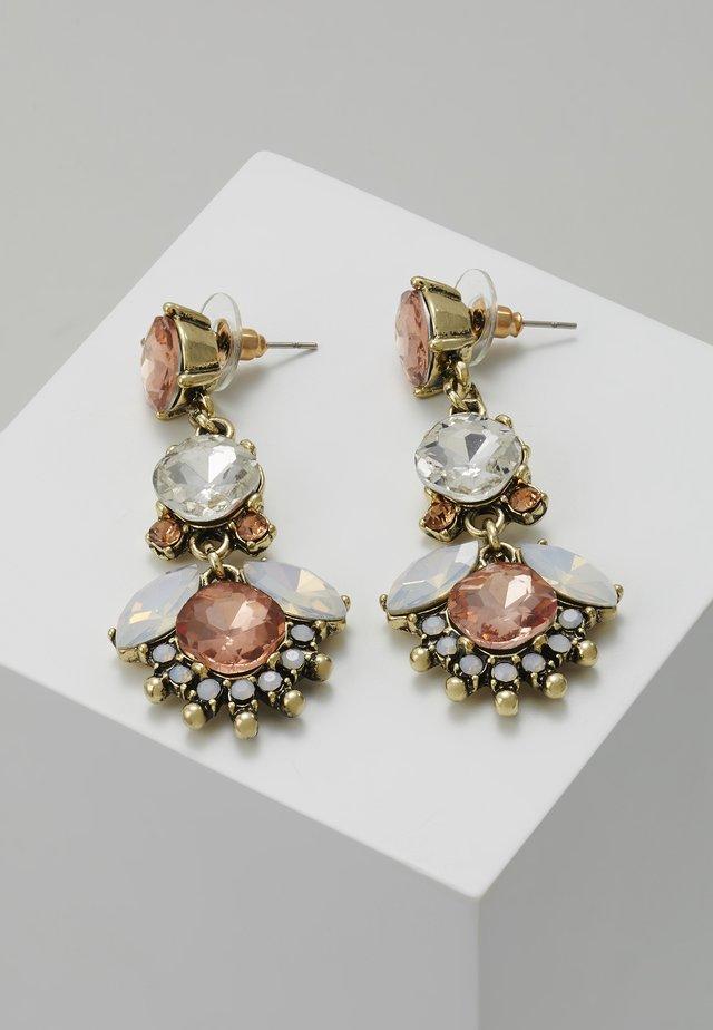 Earrings - antikgold-coloured/rose