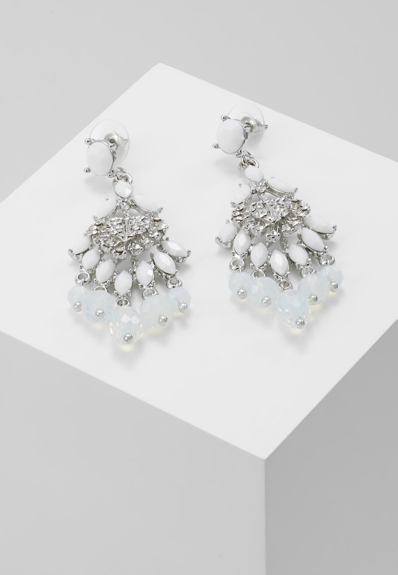 sweet deluxe - Orecchini - silver-coloured/weiß