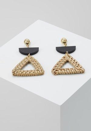 ANJUTA - Earrings - gold-coloured/schwarz/natur