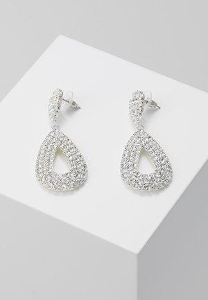 DROP EARRINGS - Boucles d'oreilles - silber/crystal