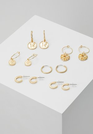7 PACK - Earrings - gold-coloured
