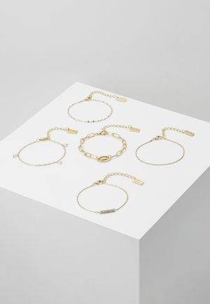 5 PACK - Pulsera - gold-coloured