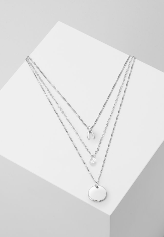 KETTE 3 - Ketting - silver-coloured