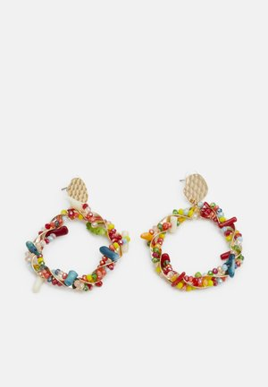 CRAFTED BEADS - Boucles d'oreilles - gold-coloured/multi-coloured
