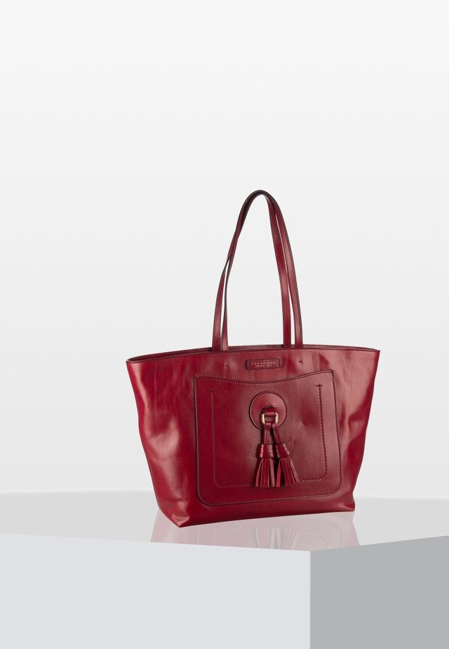 SANTACROCE - Handtasche - rosso ribes/oro