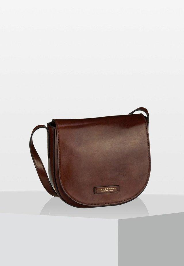 CERNAIA - Across body bag - marrone/oro