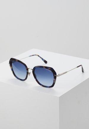 Sunglasses - mottled black/blue