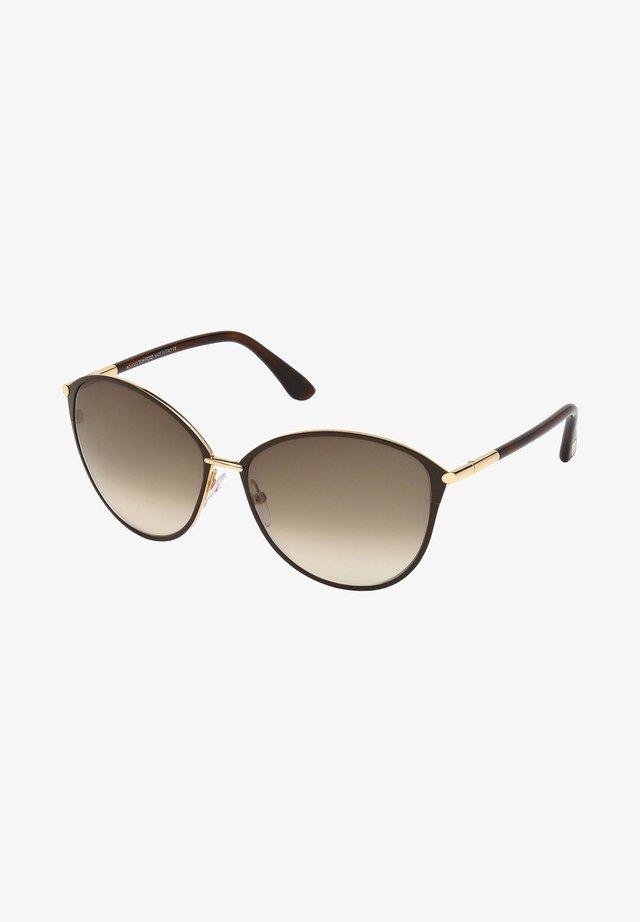 Sunglasses - havana gold/brown amber shaded