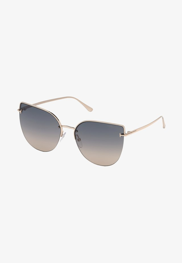 Sunglasses - rose gold/grey beige shaded