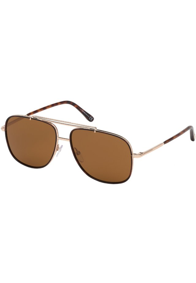 Sunglasses - rose gold/brown