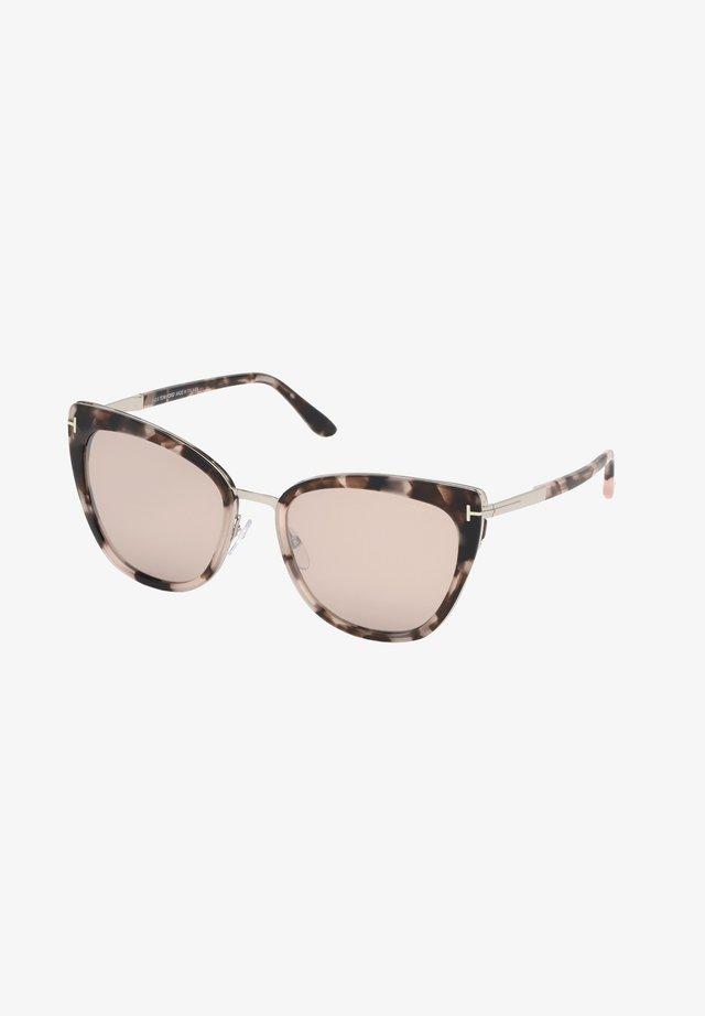 SIMONA - Sunglasses - pink havana/brown