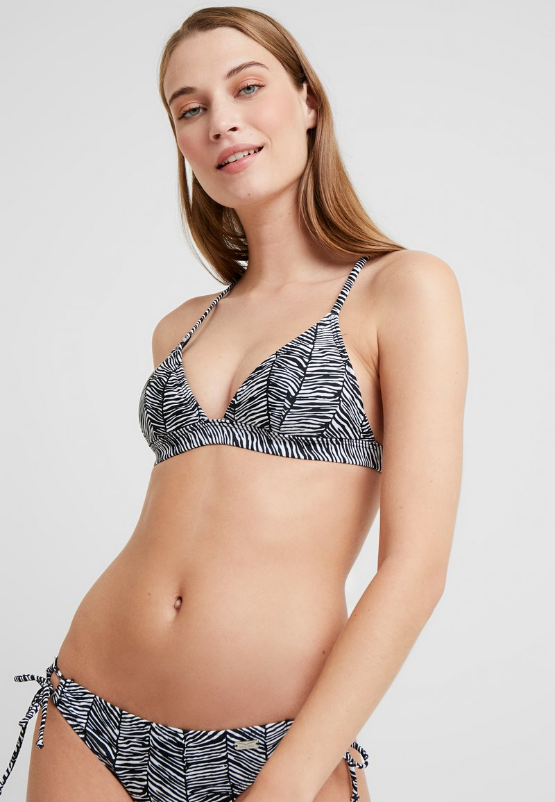 Venice Beach - TRIANGLE TOP - Haut de bikini - black/white