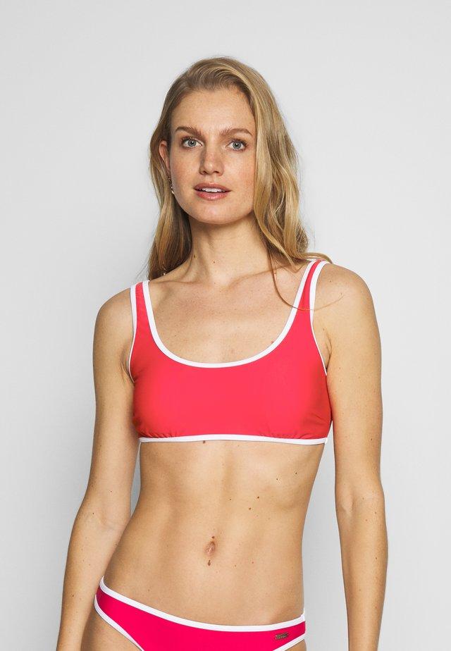 BUSTIER - Bikini pezzo sopra - red