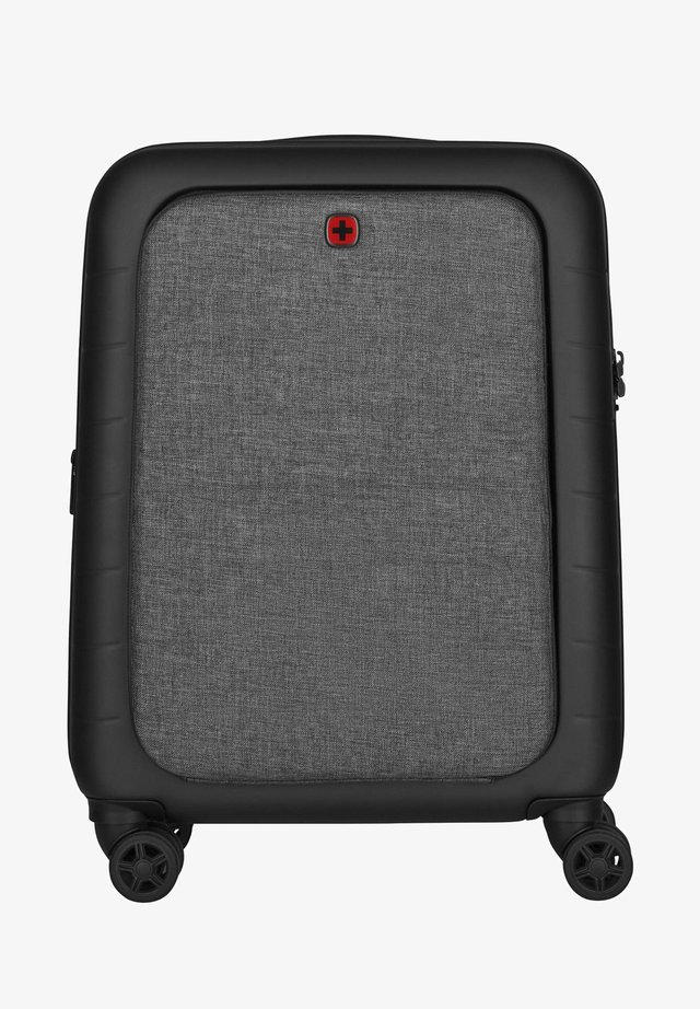 SYNTRY CARRY-ON CASE WITH LAPTOP COMPARTMENT - Luggage - black / heather grey