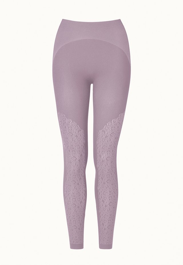 CHEETAH - Leggings - Hosen - lavender mist/white