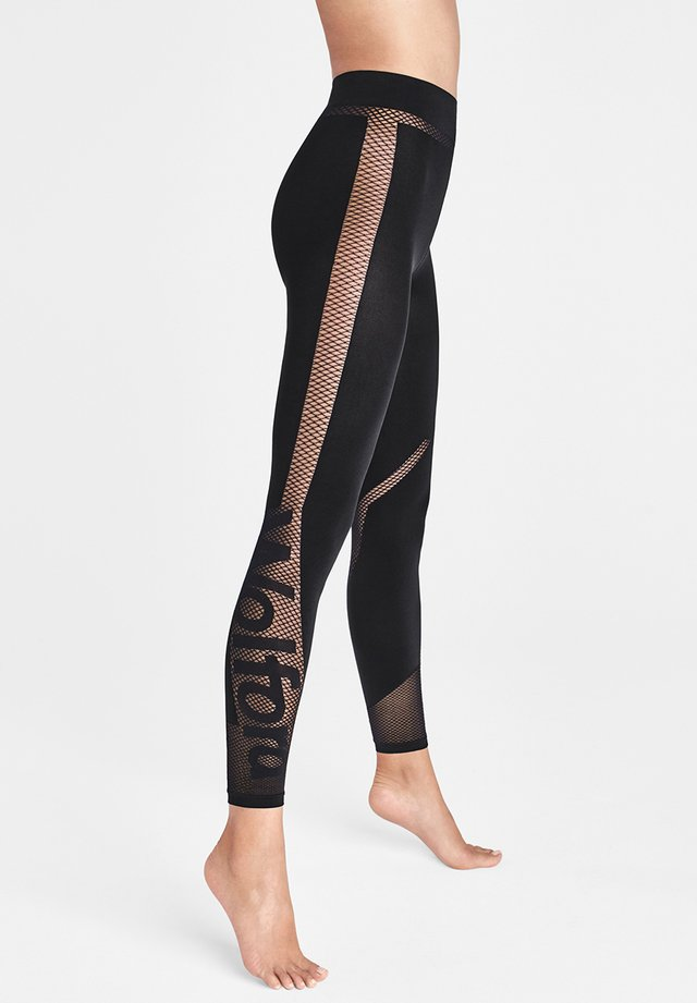 LOGO SPIRIT - Leggings - Trousers - black