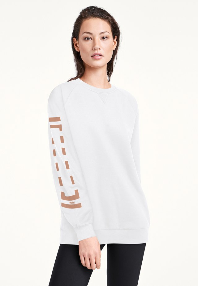 Sweater - white/petal rose