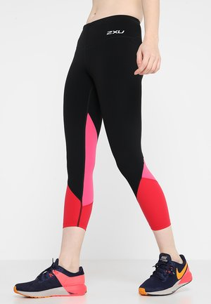 FITNESS STRIDE COMPRESSION 7/8 - Tights - black/red