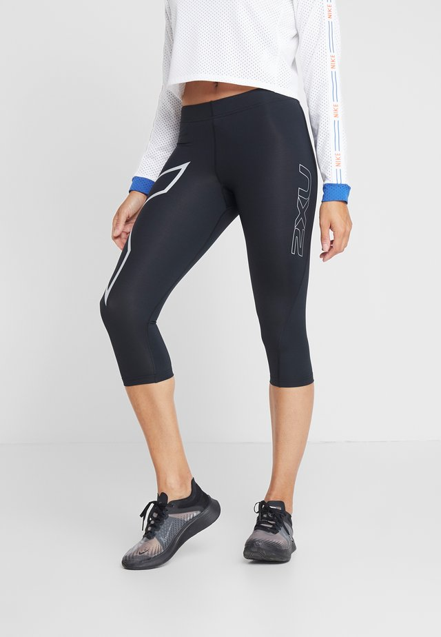 CORE COMPRESSION - Leggings - black/silver
