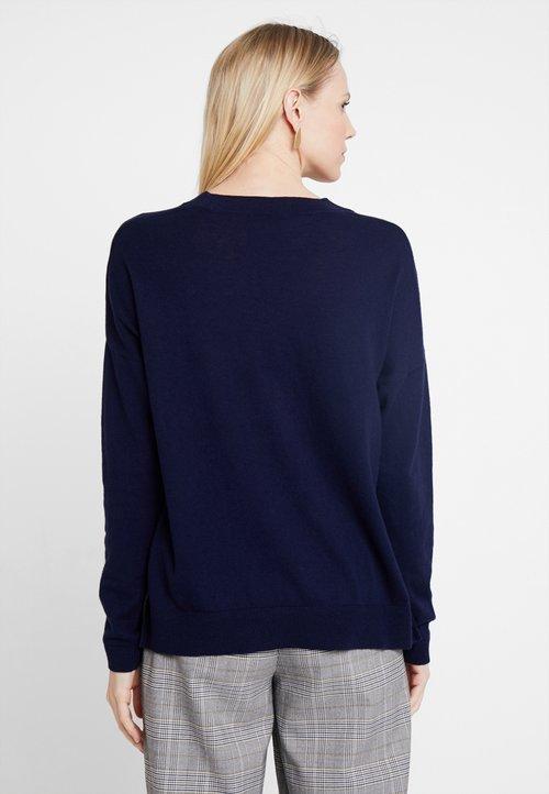 nowy Zalando Essentials Sweter - dark blue Odzież Damska PWGK-HI4